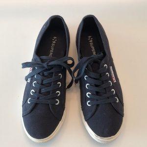 SUPERGA navy blue sneakers